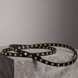 Burberry Studded Bridle Leather Double Wrap Belt